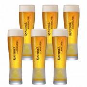 Jogo de Copos de Cerveja Rótulo Frases Kapuziner Vidro 600ml