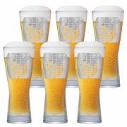 Jogo de Copos de Cerveja Rótulo Frases Tuborg Cristal 550ml