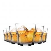 Jogo de Copos para Max Whisky em Vidro Conjunto 6 Pcs QE Ruvolo