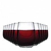 Jogo de Copos Vinho Tinto Emerald Vidro 500ml 12 Pcs