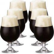 Jogo de Taça de Cerveja Bock Cristal 380ml 6 Pcs
