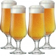 Jogo de Taças Cerveja Barcelona G Vidro 370ml 4 Pcs
