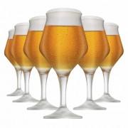 Jogo de Taças Cerveja Beer Sommelier Alta Cristal 430ml 6 Pcs