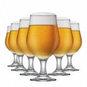 Taça de Cerveja de Vidro Belgica 380ml 6 Pcs