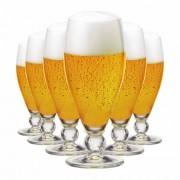 Jogo de Taças Cerveja Futebol Cristal 395ml 6 Pcs