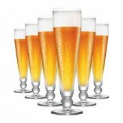 Jogo de Taças Cerveja Futebol Ferrara Cristal 375ml 6 Pcs