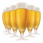 Taça de Cerveja de Cristal Pils 380ml 6 Pcs