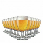Taça de Cerveja de Vidro Roma P 310ml 12 Pcs