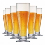Taça de Cerveja de Vidro Tulipa 320ml 6 Pcs