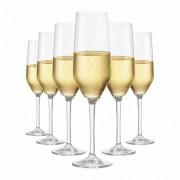 Jogo de Taças Champagne Elegance Cristal 260ml 6 Pcs