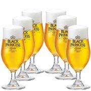 Jogo de Taças de Cerveja Black Princess 370ml 6 Pcs