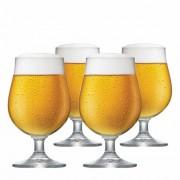 Jogo de Taças de Cerveja Bock Cristal 380ml 4 Pcs