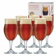 Taça de Cerveja de Cristal Dark M 435ml Conjunto 6 Pcs