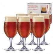 Taça de Cerveja de Cristal Dark P 295ml Conjunto 6 Pcs