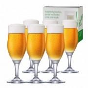 Taça de Cerveja de Cristal Sparkling P 265ml Conjunto 6 Pcs