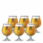 Jogo de Taças de Cerveja Bock Amstel Cristal 395ml
