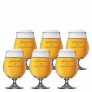 Jogo de Taças de Cerveja Frases Jacobsen Above Cristal 520ml