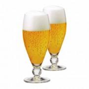 Taça de Cerveja de Cristal Futebol 395ml 2 Pcs
