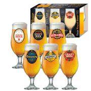 Jogo de Taças de Cerveja HH Royal Beer 330ml Luva 6 pcs