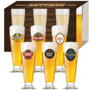 Jogo de Taças de Cerveja HH Tulipa 300ml Luva 6 Pcs
