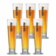 Jogo de Taças de Cerveja Rótulo Frases Shw Vidro 380ml