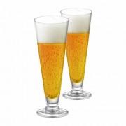 Taça de Cerveja de Cristal Tulipa Reta 300ml 2 Pcs