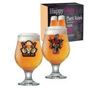 Jogo de Taças de Cerveja Vidro Rock Collection Beer Master 380ml - 2 Peças QE