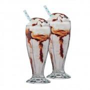 Jogo de Taças de Sorvete Milkshake London Vidro 415ml Ruvolo