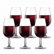 Taça de Vinho Bourbon de Vidro Degustação 210ml 6 Pcs