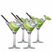 Jogo de Taças Martini de Vidro 225ml 4 Pcs