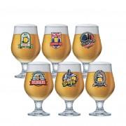 Jogo de Taças para Cerveja Rótulo Beer Master 380ml 6 Pcs
