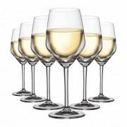 Taça de Vinho Branco de Cristal Elegance 375ml 6 Pcs