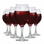Taça de Vinho Tinto de Vidro One 600ml 6 Pcs