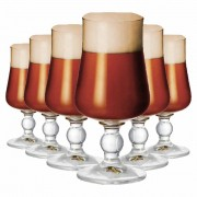 Jogo de Taçass Cerveja Brinkhoffs Cristal 330ml 6 Pcs