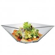 Saladeira Quadrada de Vidro Milão G Vidro 2850ml Ruvolo