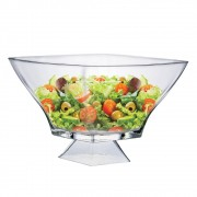 Saladeira Quadrada de Vidro Ruvolo Stephanie G Pé 2700ml