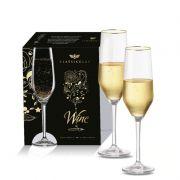 Taça Champagne Elegance de Vidro com 260ml