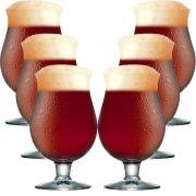 Taça de Cerveja Belgian de 415ml 6 pcs