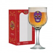 Taça de Cerveja Caveira Mexicana Roxa Barcelona 300ml