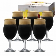 Taça de Cerveja de Cristal Dark Bier 440ml 6 Pcs
