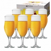 Taça de Cerveja de Cristal Lubzer M 340ml 6 Pcs