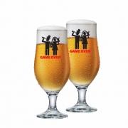 Taça de Cerveja de Vidro Game Over de 330ml 2 Pcs