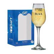 Taça de Champagne Frases Divertidas Economize Akron 240ml