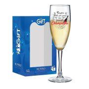 Taça de Champagne Frases Divertidas Sempre Bourbon 150ml