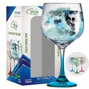Taça de Gin Degrade de Vidro 650ml Azul