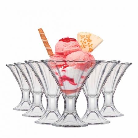 Taça de Sobremesa de Vidro Clássico 280ml 6 Pcs