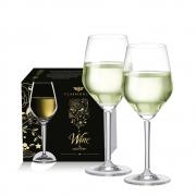 Taça de Vinho Branco de Cristal Elegance 375ml 2 Pcs
