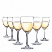 Taça de Vinho Branco de Vidro Temperado 230ml 6 Pcs