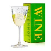Taça de Vinho Branco Cristal Ritzenhoff Whitewine Glass Dominique Tage 2010 200ml