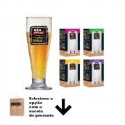Taças de Cerveja Frases Legais Coleção 4 Pcs Tulipa 320ml